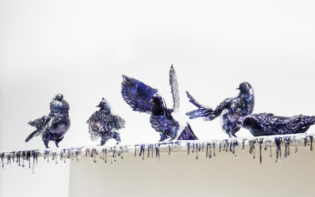 FROM SAND, ARTWORKS IN GLASS – Jan Fabre, Shitting Doves of Peace and Flying Rats