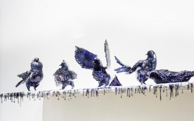 """From sand, artworks in glass"" – Jan Fabre, Shitting Doves of Peace and Flying Rats"