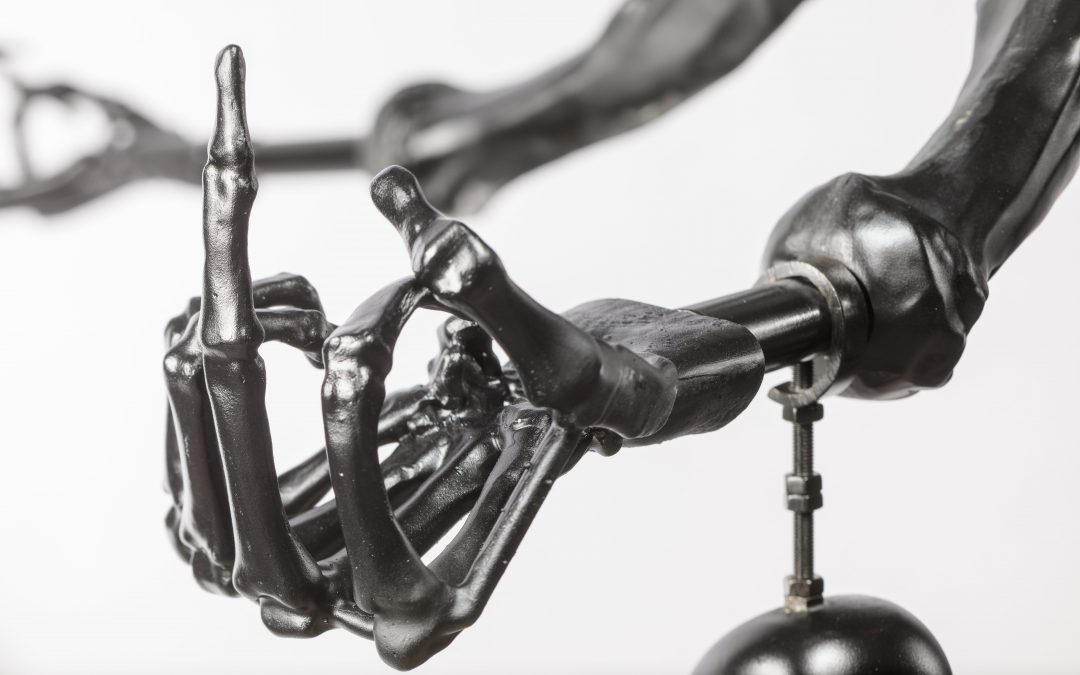 Ai Weiwei, Black Chandelier in Murano Glass (detail), 2017-2021