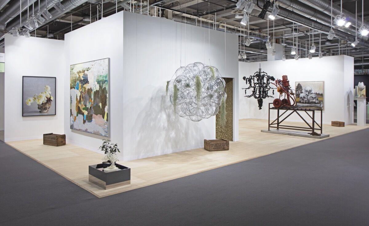 Ai Weiwei, Black Chandelier in Murano Glass at Art Basel, 2021